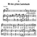 Mit dem grünen lautenbande D.795-13, Low Voice in G Major, F. Schubert (Die Schöne Müllerin), Pet   eBooks   Sheet Music