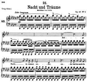 Nacht und Träume D.827, Low Voice in A-Flat Major, F. Schubert | eBooks | Sheet Music