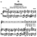 Ständchen D.889, Horch, horch die Lerch, Low Voice in A-Flat Major, F. Schubert. | eBooks | Sheet Music