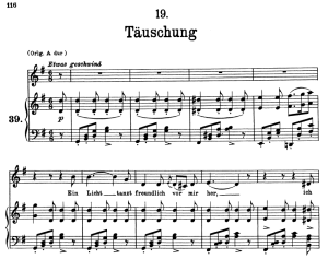 Täuschung D.911-19, Low Voice in G Major, F. Schubert | eBooks | Sheet Music