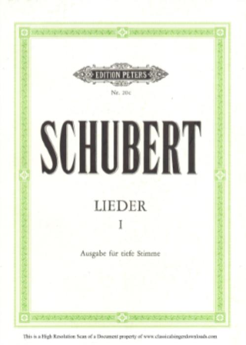 First Additional product image for - Trockne Blumen D.795-18, Low Voice in B minor, F. Schubert (Die Schöne Müllerin), Pet