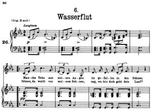 wasserflut d.911-6, low voice in c minor, f. schubert