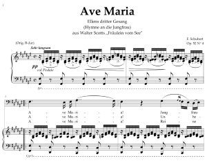 ave maria, d 839 in f sharp major (bass). in german. f.schubert. digital score after peters friedlaender edition (pd). a4 (portrait)