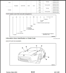 2017 nissan 370z z34 service & repair manual wiring diagram