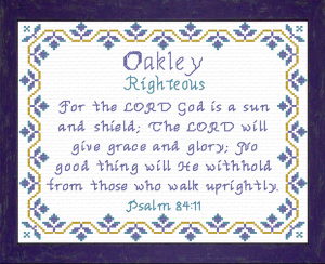 name blessings - oakley