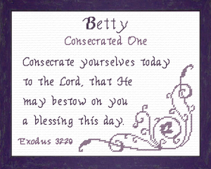 Name Blessings - Betty | Crafting | Cross-Stitch | Religious