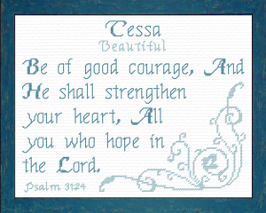Name Blessings - Tessa | Crafting | Cross-Stitch | Religious