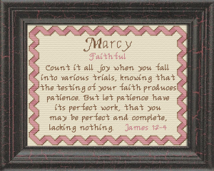 Name Blessings - Marcy | Crafting | Cross-Stitch | Religious