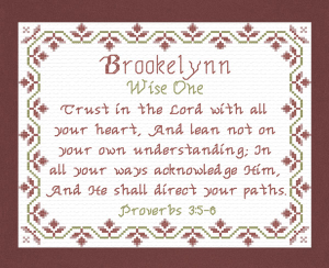 Name Blessings - Brookelynn | Crafting | Cross-Stitch | Religious