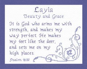 Name Blessings - Layla | Crafting | Cross-Stitch | Religious