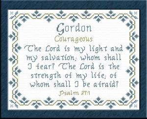 Name Blessings - Gordon | Crafting | Cross-Stitch | Religious