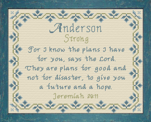 First Additional product image for - Name Blessings - Anderson 2