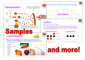 Dextrinisation and Caramelisation | eBooks | Education