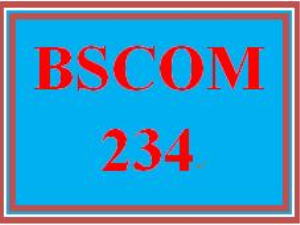 BSCOM 234 Entire Course | eBooks | Education