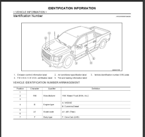 2016 nissan titan a61 service & repair manual & wiring diagram