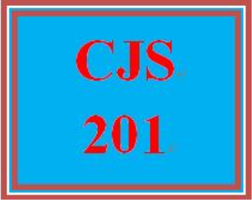 First Additional product image for - CJS 201 Entire Course