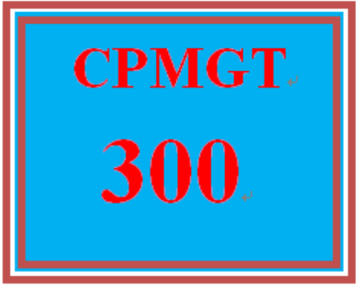 First Additional product image for - CPMGT 300 Entire Course