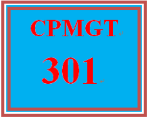 cpmgt 301 week 4 project communication management plan