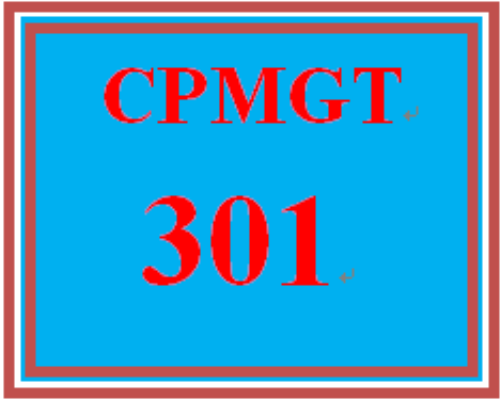 First Additional product image for - CPMGT 301 Entire Course