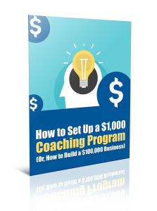 how to setup a $1000 coaching program
