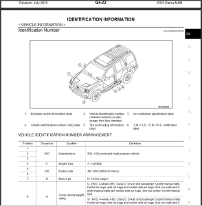 2015 nissan xterra n50 service & repair manual wiring diagram