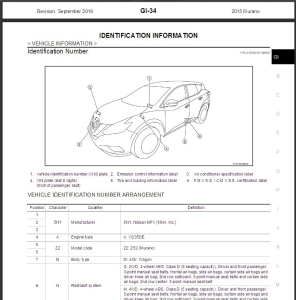 2015 nissan murano z52 service repair manual & wiring diagram