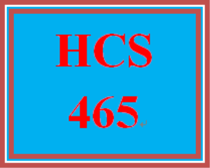 HCS 465 Week 1 Importance of Research | eBooks | Education