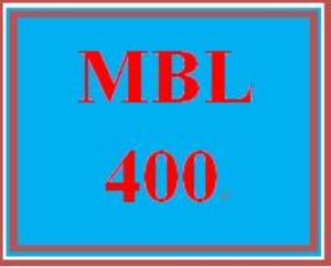 MBL 400 Entire Course | eBooks | Education