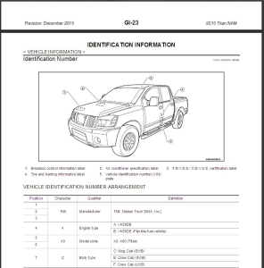 2015 nissan titan a60 service & repair manual