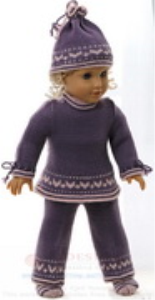 dollknittingpattern 0167d synne - tunic, pants, jacket, cap and socks-(english)