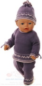 dollknittingpatterns modell 0167d synne - tunika, hose, pulli, mütze und socken-(deutsch)
