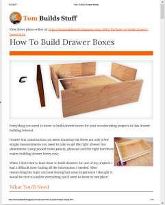 tombuildsstuff how to build drawer boxes pdf
