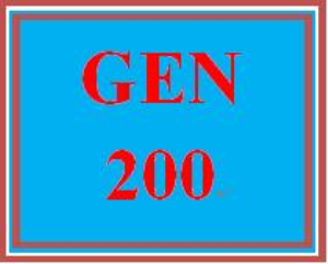 GEN 200 Entire Course | eBooks | Education
