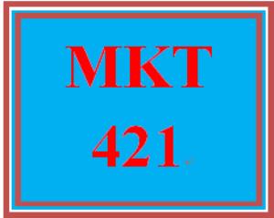 MKT 421 Week 3 Summary Assignment | eBooks | Education