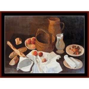 Still Life with Fruit - Derain cross stitch pattern by Cross Stitch Collectibles | Crafting | Cross-Stitch | Wall Hangings
