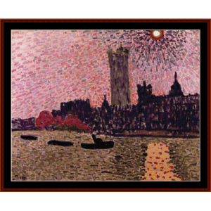 Westminster Abbey, 1905 - Derain cross stitch pattern by Cross Stitch Collectibles | Crafting | Cross-Stitch | Wall Hangings