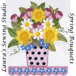 Laura's Spring Bouquet PES | Crafting | Embroidery