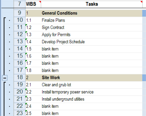 Third Additional product image for - Commmercial Construction Schedule Excel Template 5-Day View