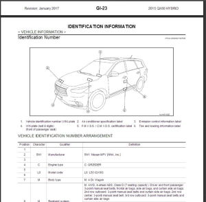 infiniti q70 hybrid hy51 2015 service repair manual & wiring diagram