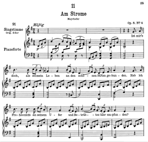 Am Strome D.539, Low Voice in G Major, F. Schubert | eBooks | Sheet Music