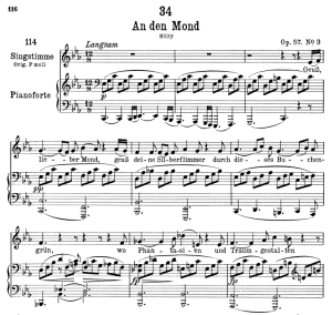 "an den mond d.193, ""geuss, lieber mond"", low voice in c minor, f. schubert"