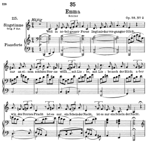 an emma d.193, low voice in c major, f. schubert