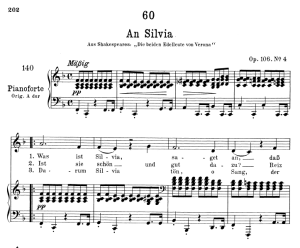 an silvia d.891, low voice in f major, f. schubert