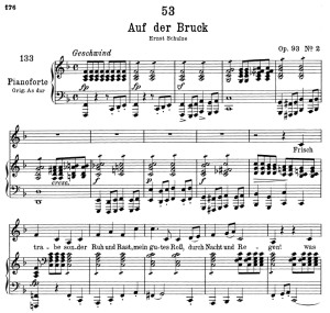 Auf der Brück D.833, Low Voice in F Major, F. Schubert | eBooks | Sheet Music
