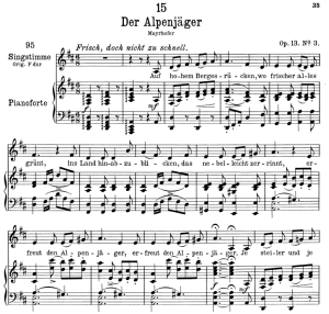 Der Alpenjäger D.524,  Low Voice in D Major, F. Schubert | eBooks | Sheet Music
