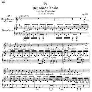 Der blinde Knabe D.833,  Low Voice in G Major, F. Schubert | eBooks | Sheet Music
