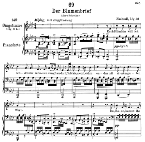 der blumenbrief d.622,  low voice in a-flat major, f. schubert