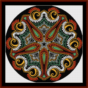 Fractal 609 cross stitch pattern by Cross Stitch Collectibles | Crafting | Cross-Stitch | Wall Hangings