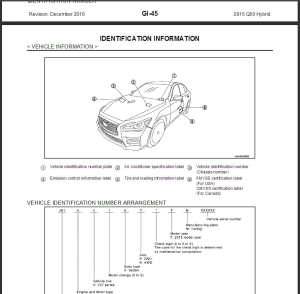 2015 infiniti q50 hybrid v37 service repair manual & wiring diagram