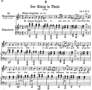 Der König in Thulé D.367,  Low Voice in G minor, F. Schubert | eBooks | Sheet Music